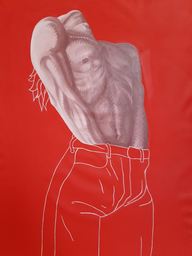 Pietro Librici, In My Pants, 100x75cm.
