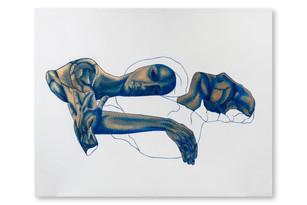 Pietro Librici, Cuore Sordo (Voiceless Heart), Oil on Canvas, 100x90 cm.