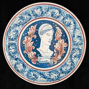 Pietro Librici, Sanare - Plate, Overglaze ceramic, Ø=37,5 cm.