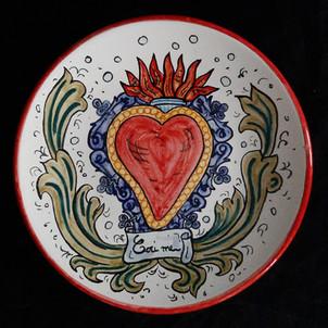 Pietro Librici, Cori Me - Plate, Overglaze ceramic, Ø=23 cm.