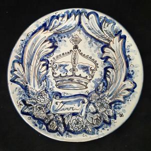 Pietro Librici, Vivi - Plate, Overglaze ceramic, Ø=23 cm.