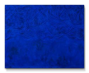 Pietro Librici, Nel Sottobosco c'è il Cielo (The Sky In the Underwood), Mixed media on canvas, 80x100 cm.