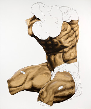 Pietro Librici, Torso Belvedere (Belvedere Torso), Oil on cavas, 120x100 cm.