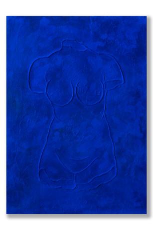 Pietro Librici, Busto Femminile (Female Bust), Mixed media on canvas, 50x70 cm.