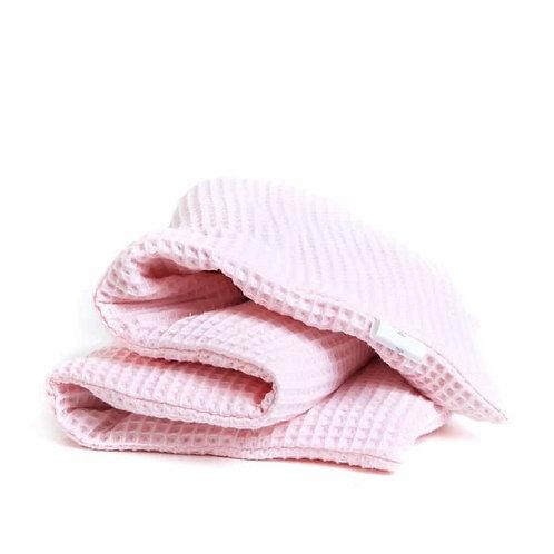 Wafelstof roze   Lijnzaad  Pittenzak 70×20