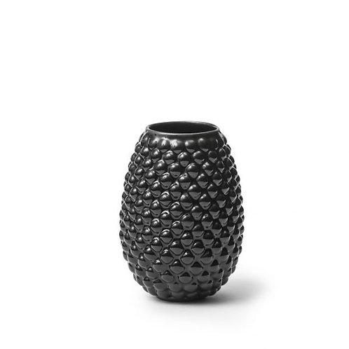 Vaso Diamante Oval pequeno preto