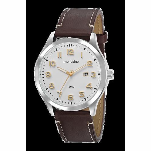 Relógio Masculino Social com pulseira em couro