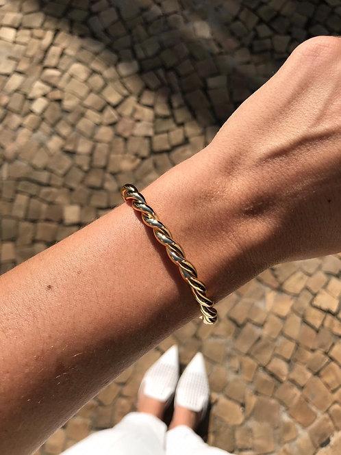 Bracelete folheado a Ouro