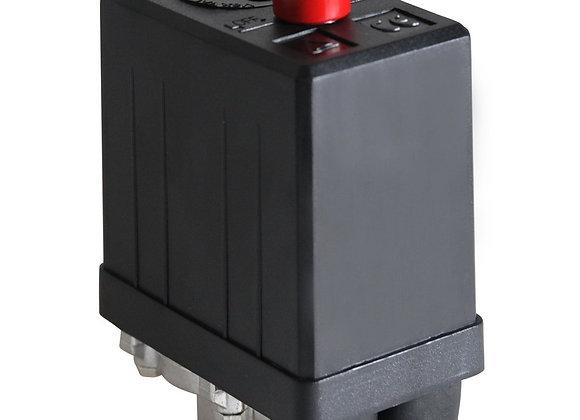 Pressostato 80/120 PSI com Chave Botão 1 Via sem Válvula e Manifold