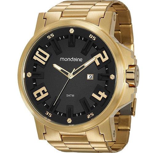 Relógio Masculino Dourado Urbano