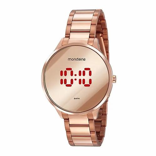 Relógio Feminino Digital Rosé Redondo