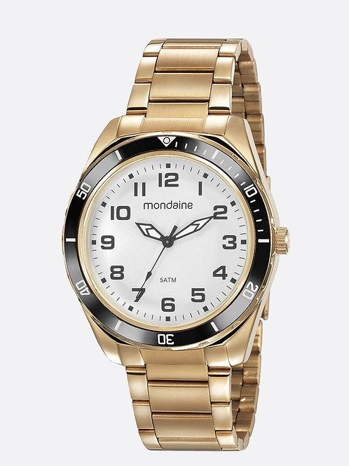 Relógio Masculino Casual dourado