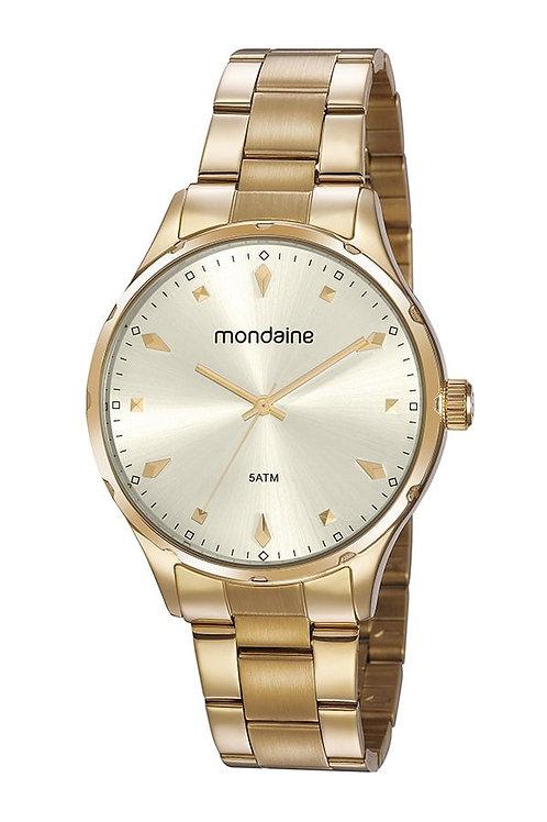 Relógio Feminino Casual Dourado