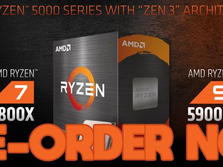 AMD Zen 3 5600x 5800x 5900x