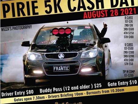 🏁🏁 Pirie Revs 5k Cash Day August 28th 2021 🏁🏁