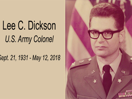 Remembering Lee C. Dickson: husband, veteran, associate dean emeritus