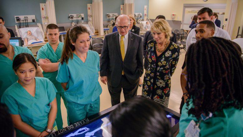 U.S. Secretary of Education Betsy DeVos visits Florida International University.