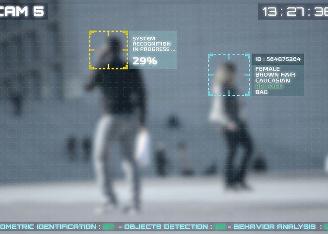 Simulation of a screen of cctv cameras w