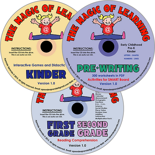 Aprende Aprenda Deluxe CD Package - English