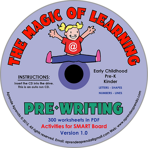 Aprende Aprenda Pre Writing CD - English