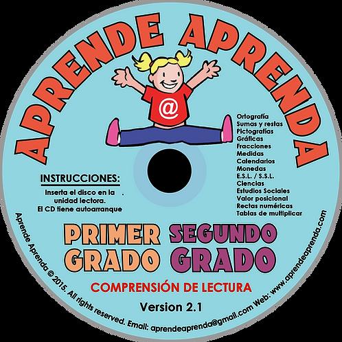 Aprende Aprenda Primer Y Segundo Grado CD - Español