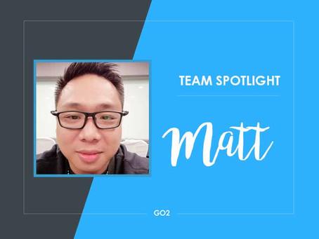 Team Spotlight: Matt