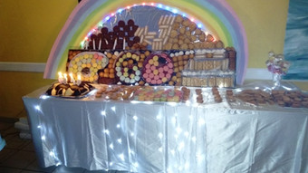 anniversaire table desserts