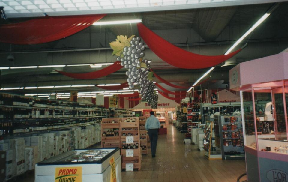 foire aux vins décor de magasin