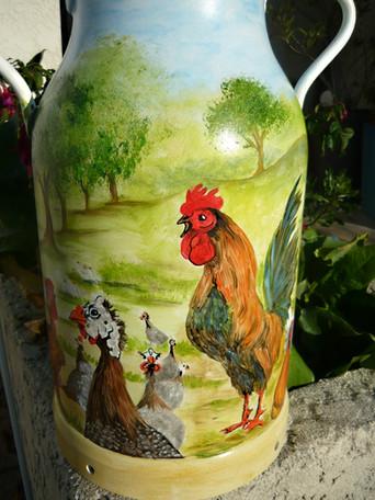 volailles à la ferme pot au lait