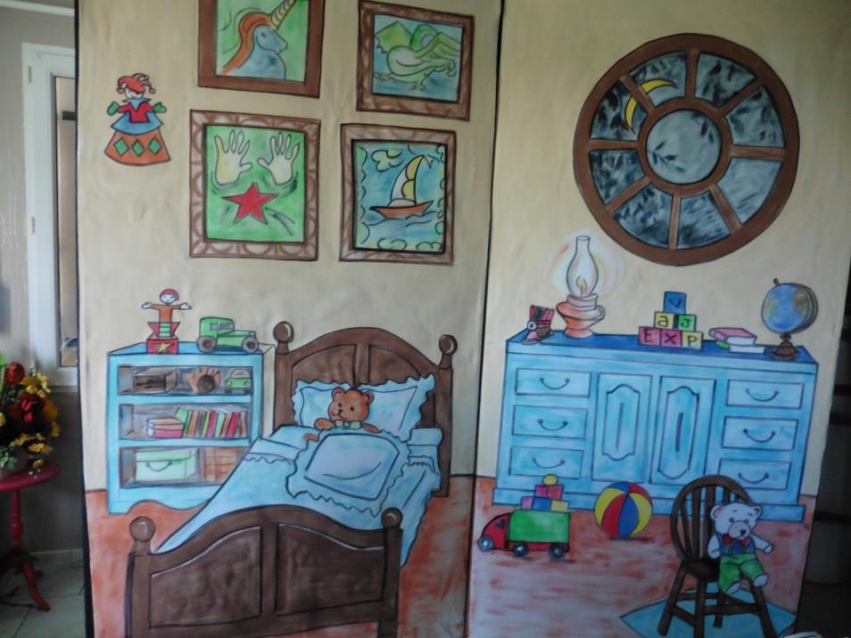 décor chambre peinte sur toile