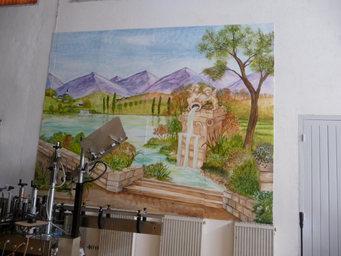 peinture murale paysage 300 x 420cm