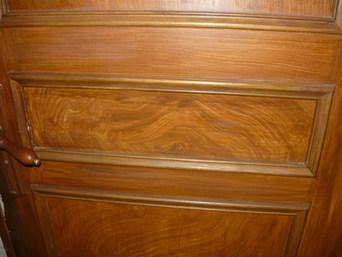 faux bois sur porte isoplane