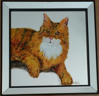 chat roux peint sur miroir.jpg