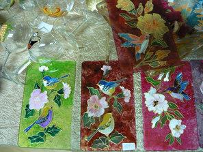 décor oiseaux et fleurs