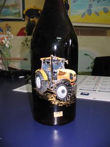 tracteur sur bouteille