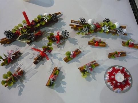 atelier Noël 2018décors de table