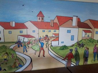 peinture murale salle des fêtes de St-Séverin