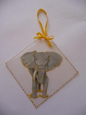 elephant peint