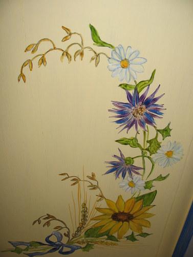 motif fleurs des champs