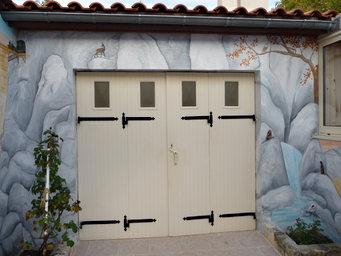 peinture murale Ruelle cour intérieure