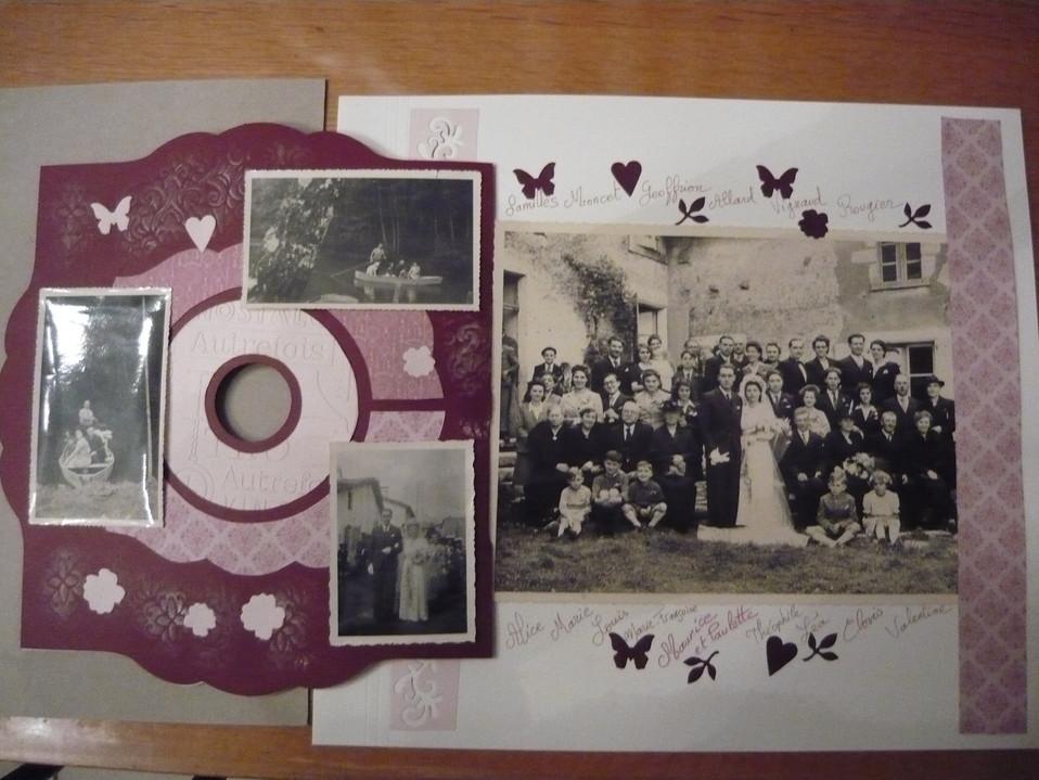 page scrap mariage Paulette et Maurice 1944