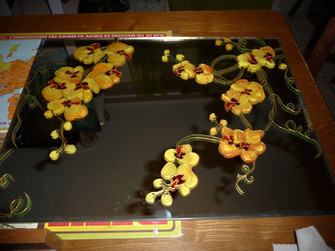 miroir orchidées