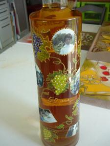 bouteille décorée cadeau.
