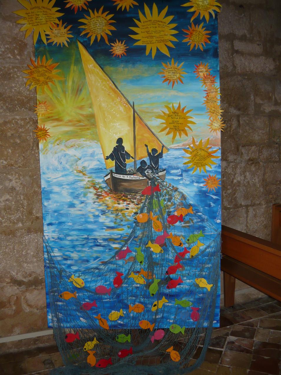 panneau affichage paroisse des 7 clochers