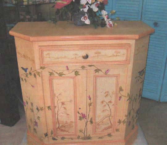 meuble décoré