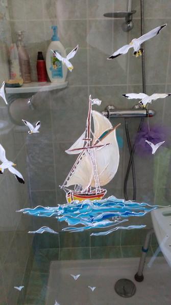 miroir décor bateau