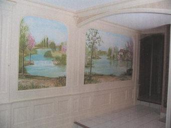 peinture murale décor peint St-Yrieix