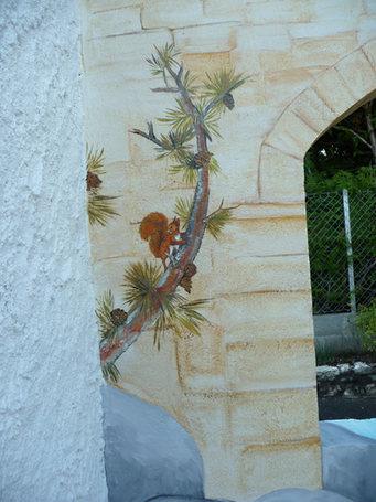 peinture murale cour intérieure Ruelle