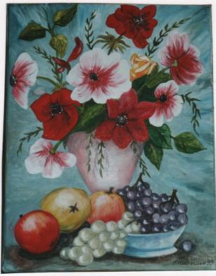 1999 bouquet fleurs et fruits