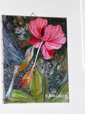 1992 hibiscus & colibri